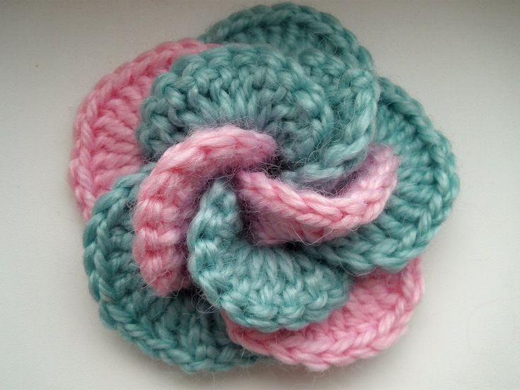 Crochet flower. Tutorial.