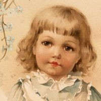 Today I'm offering this Sweet Kiss Image! This is an old photo postcard showing an adorable little Girl and Boy.