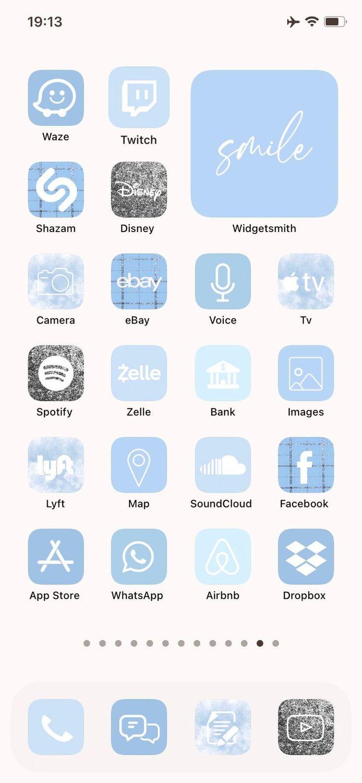 100+ iOS 14 App Icons Sky Blue 100+ Custom your iPhone