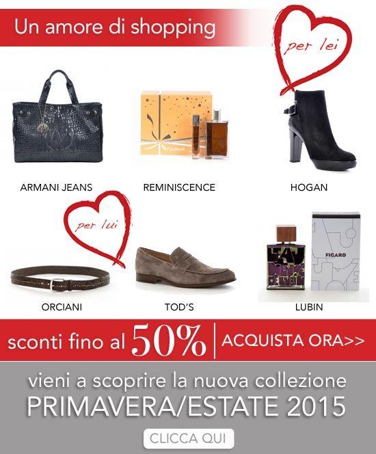E' tempo di#SALDIma soprattutto di #REGALI! Scegli frai migliori #brande stupisci con un regalo di alta #qualità. Scopri inoltre i primi capiper #LUI e per #LEI disponibili sul nostroe-shop. La PRIMAVERA/ESTATE ti aspetta! http://bit.ly/1uQBP4l #shoppingonline