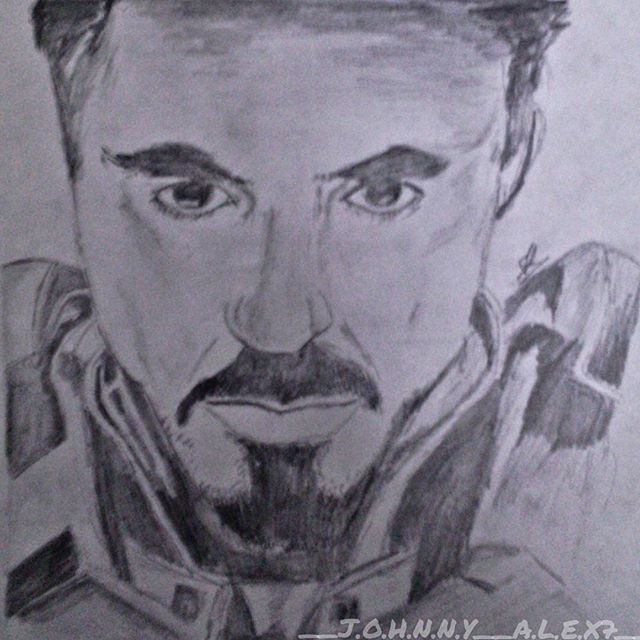 #13 #throwback to my 1year old #robertdowneyjr drawing. #johnnys_artbook #ironman#marvel#marvelfan#pencildrawing  #art_4share #artstalentz #art_4_shoutout #worldofartists #young_artist_help