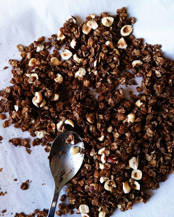 cocoa hazelnut granola     Lauren Kodiak