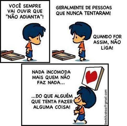 O verdadeiro just do it. #tirinhas #quadrinhos