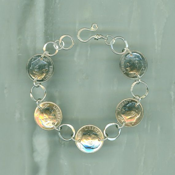 2006 dime coin bracelet 10th anniversary gift jewelry 2006 for 10th wedding anniversary jewellery