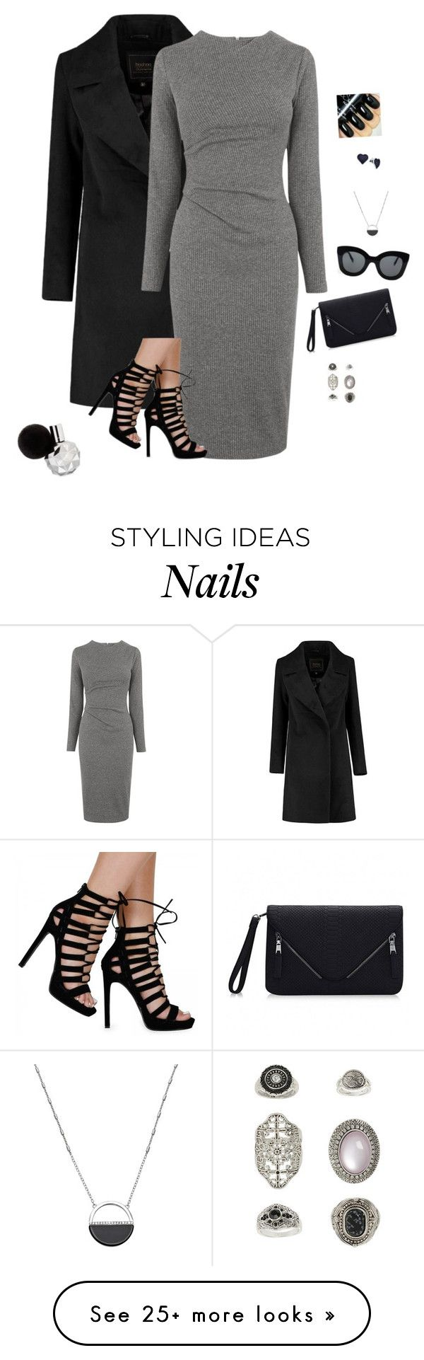 """""""High Fashion Woman"""" by hanakdudley on Polyvore featuring Whistles, CÉLINE, White House Black Market, Topshop, BillyTheTree, women's clothing, women, female, woman and misses"""