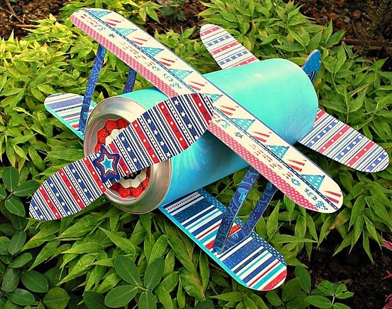 This plane is made from an old soda can. Tutorial and ...