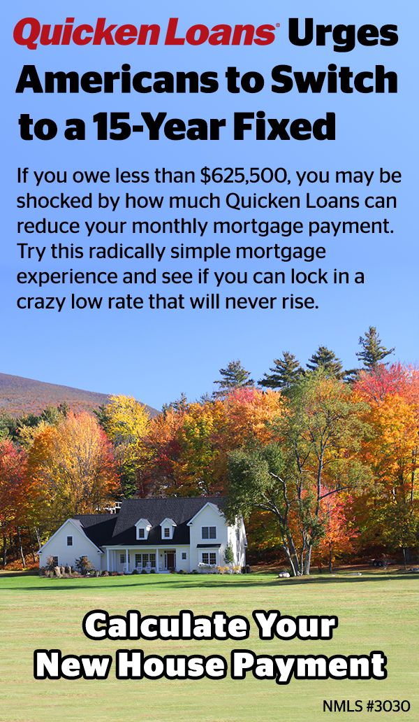 If you owe less than $625,500, you may be surprised by how much Quicken Loans can reduce your monthly mortgage payment. Try this radically simple mortgage experience and see if you can lock in a crazy low rate that will never rise.
