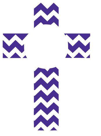 Monogram Chevron Cross Graphic Files for by CoralCharmBoutique