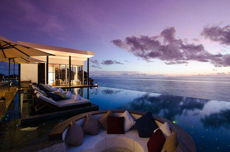 Jumeirah Dhevanafushi, Maldives - Johara Pool Sunset