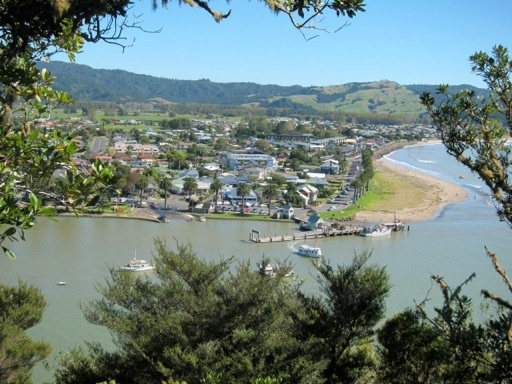 Whitianga from the top of Shakespeare Cliff.