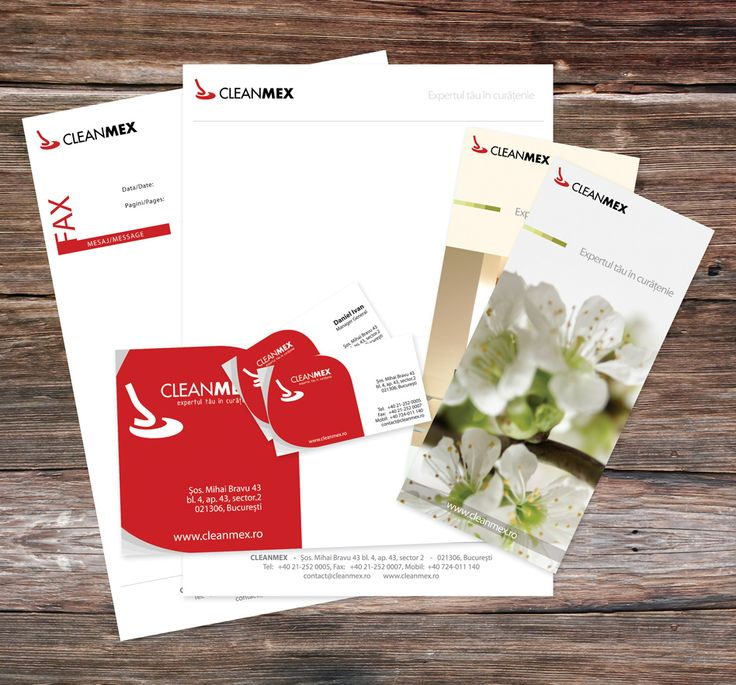 ID package for a cleaning company in Bucharest, Romania.