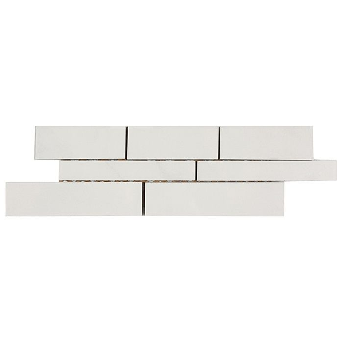 Check out the deal on Tesoro Bianco Statuario - Random Linear Muretto #1 Mosaic at GBTile Collections