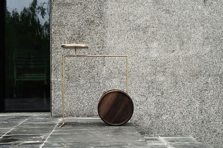 Elegant is a minimal side table created by China-based designers Tells Design Studio.
