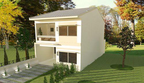 Sencilla casa de dos plantas, tres dormitorios y 106 metros cuadrado