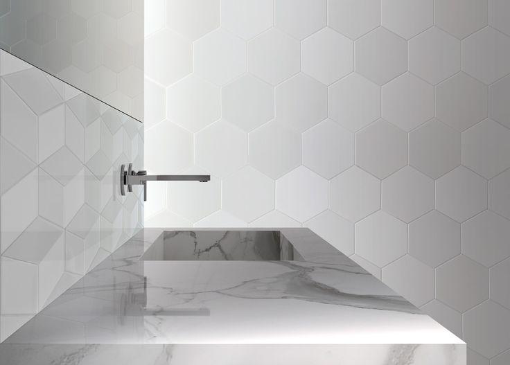 Luna collection CERAMICA SENIO #tilesdesign #luna #decortiles #decor #wall #creativedesign #softdesign #exagon #esagono #surfaces #rombo #madeinitaly #ceramicasenio