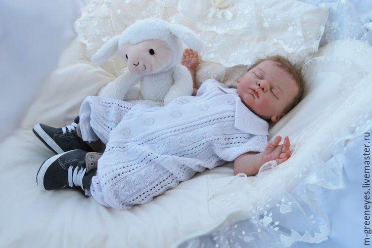 """Купить Полукомбинезон """"Легкий ажур"""" - полукомбинезон, комбинезон для малыша, для новорожденного, на выписку из роддома, вязаный комбинезон"""