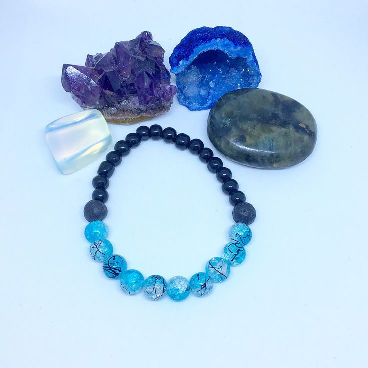 A personal favorite from my Etsy shop https://www.etsy.com/ca/listing/571720512/blue-crackle-bead-diffuser-bracelet-lava