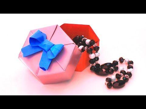 Оригами из бумаги | Шкатулка своими руками | Шестиугольная коробочка - YouTube