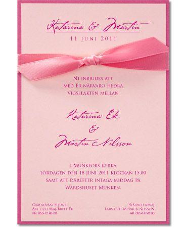 Inbjudningskort i läckert rosa, Ribbon Levigato Jenny #calligraphendetails #calligraphenwedding #wedding #bröllop #invitations #inbjudningskort #inbjudan #bröllopskort #pink #rosa