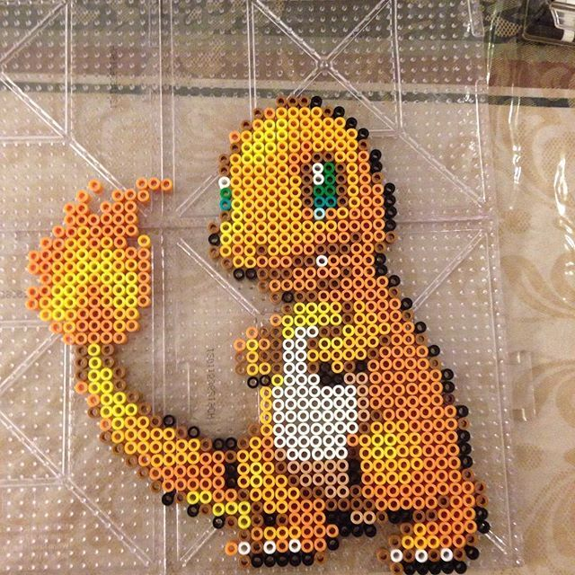 Charmander - Pokemon perler beads by perlerdev