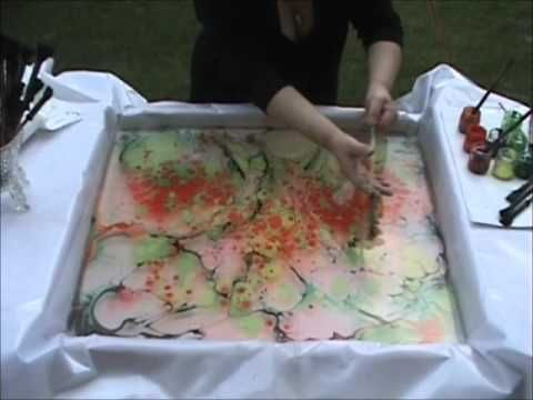 Marbling on Canvas, must try!