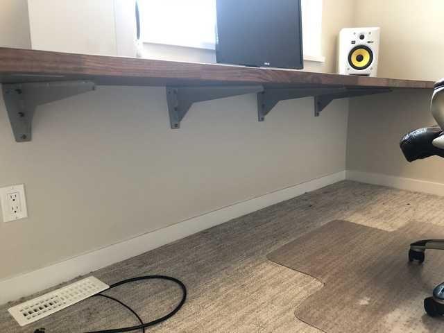New Floating Desk Floating Desk Diy Office Desk Home Office Design
