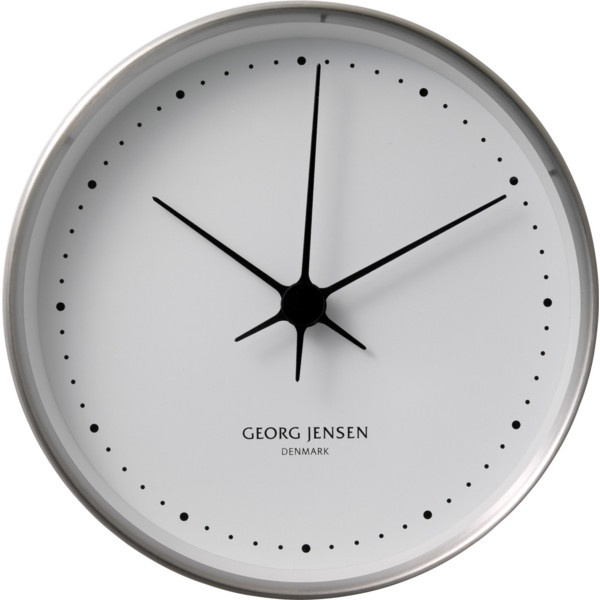 Koppel 15 Cm Wall Clock, Stainless Steel With White Dial ($200) ❤ liked on Polyvore