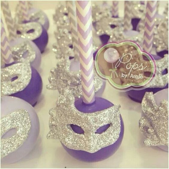Mardi Gras Cake Pop, Masquerades Cake, Engagement Parties, Masque Ball, Cake Ball, Sweets Masquerade Cakes, Birthday Cake, Birthday Ideas