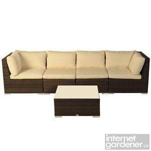 Bramblecrest Rio 4 Seat Modular Rattan Garden Sofa