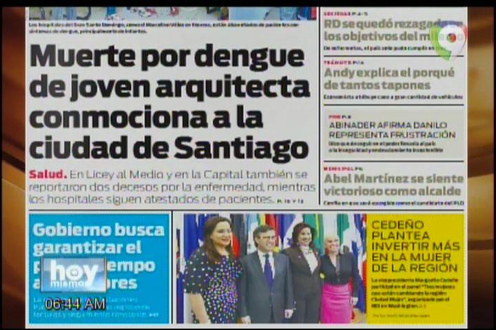 Portada De Los Diarios Del Día De Hoy #Video