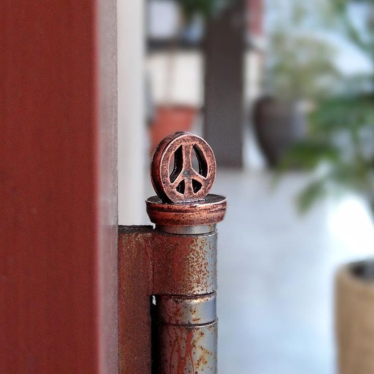 fresh from the caster handcrafted peace sign decor accessories for doors