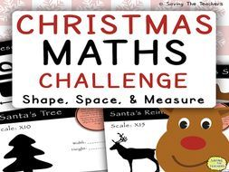 Christmas Math Challenge: Shape, Space, and Measure by adamjharvey245 - Teaching Resources - Tes