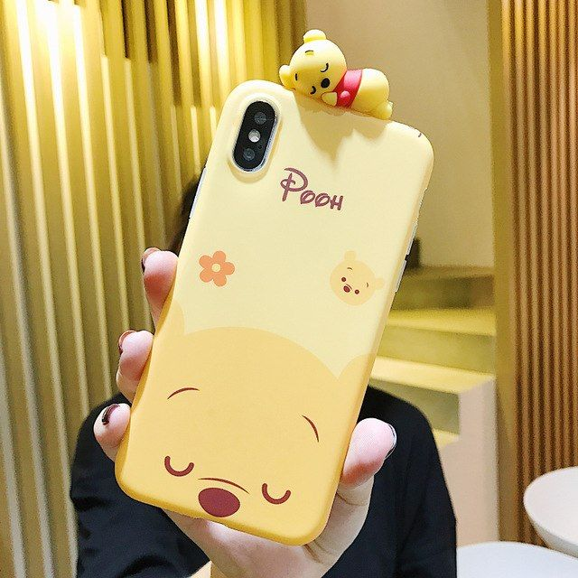 disney winnie the pooh face iphone case