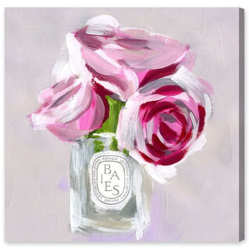 Rose Candle Canvas Print, Oliver Gal