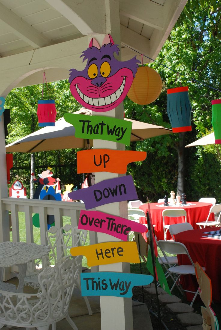 17 best images about olivia 39 s 3rd birthday party ideas on - Alice in the wonderland party decorations ...