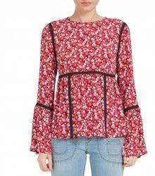 Juicy Couture Blumen-Top mit langen Ärmeln