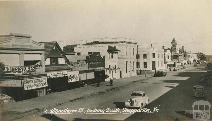 Wyndham Street, looking south, Shepparton
