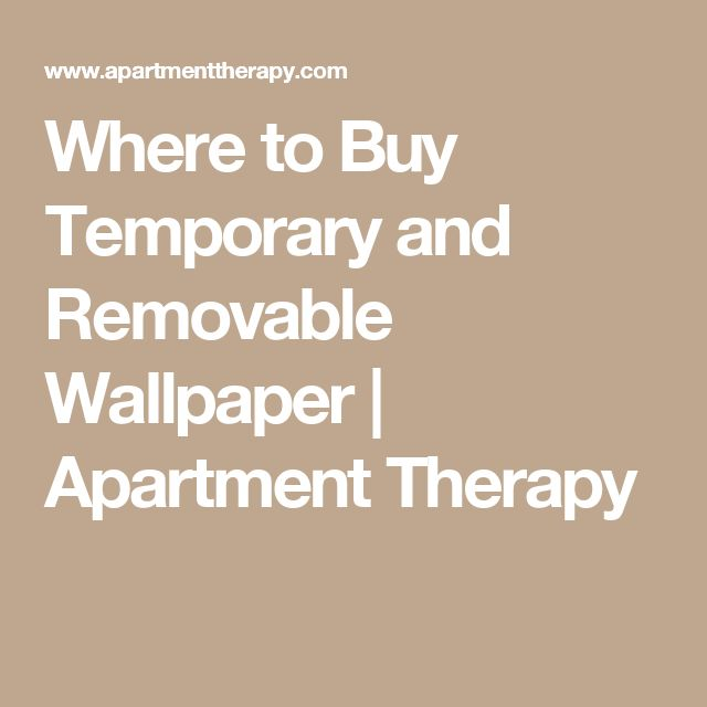 Where to Buy Temporary and Removable Wallpaper | Apartment Therapy