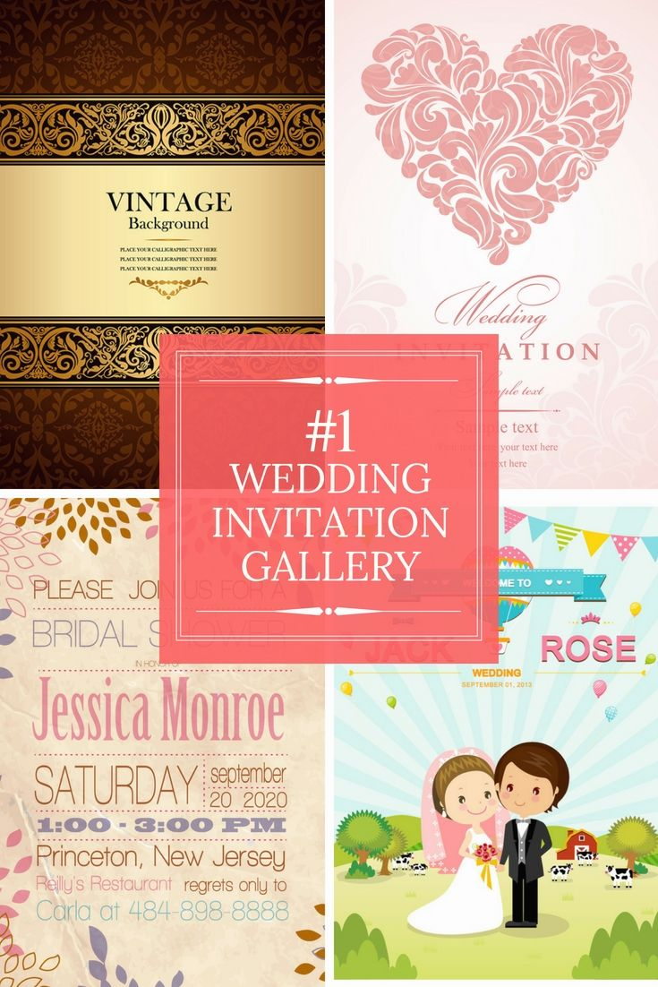 The 15 best free wedding invitation samples images on Pinterest ...