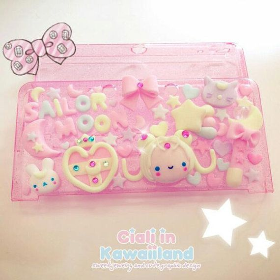 Sailor moon inspired kawaii case for Nintendo DSLite / 3DS / 3DS XL on Etsy, $58.33