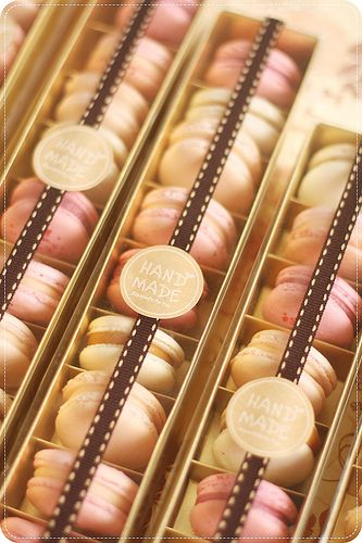 Macarons in Gold Boxes | Flickr - Photo Sharing!