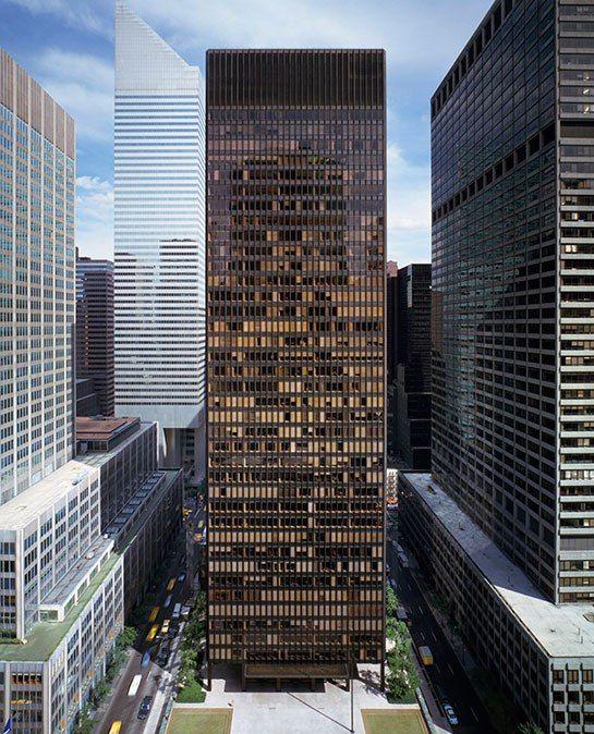 Mies van der Rohe's landmark Park Avenue skyscraper, the Seagram Building, was completed in 1958. Photo: Ezra Stoller / Esto