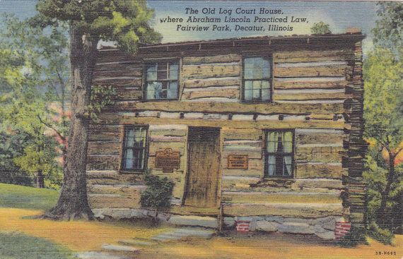 The Old Log Court House Fairview Park Decatur Illinois