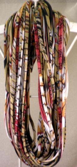 Flack - collar textil infinity - model indi lo ultimo en moda !!!!