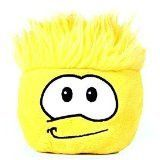Disney Club Penguin 6 Inch Deluxe Plush Puffle Yellow Includes Coin with Code!