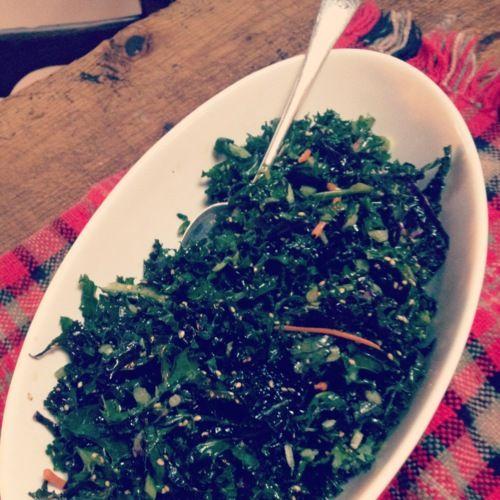 Living MacTavish: Sesame Kale Salad | Salads & Slaws | Pinterest