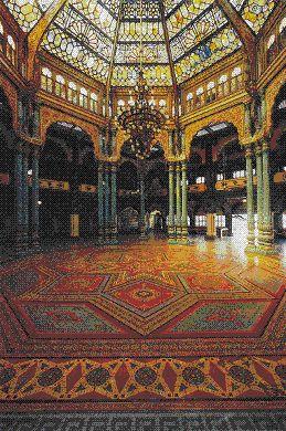 Interior of Maharajah of Mysore's palace.  INDIA.