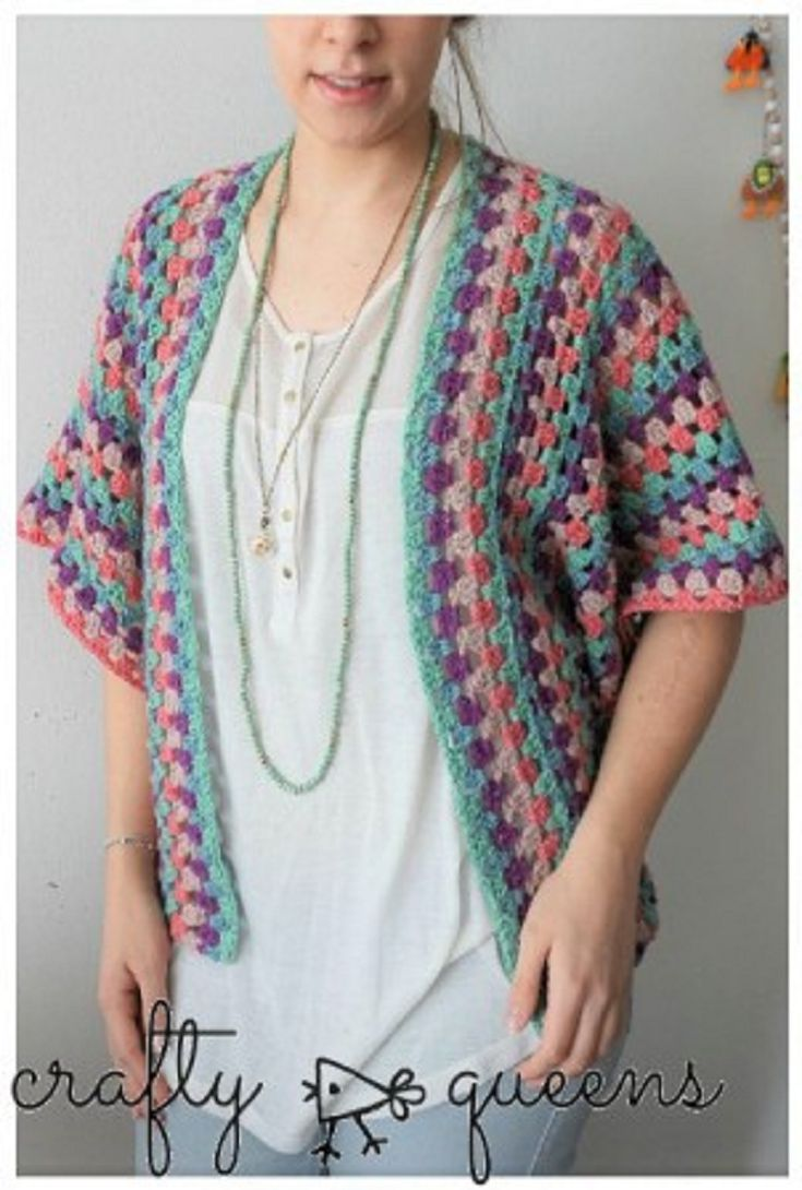 Get An Elegant Finishing Touch With This Classic Granny Stripe Cardigan