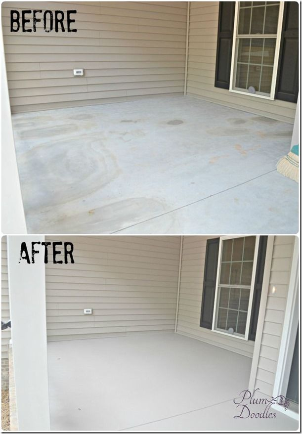 DIY:  How to Give Concrete a Facelift with Concrete Restore 4x - this is an easy-to-use product that refaces your patio or walkway. Post has a tutorial + a link on how to apply this Rustoleum product - PlumDoodles.com