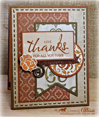 New huntington paper pack and happy autumn stamp set for Huntington card designs